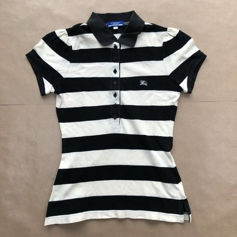 eef0550e @ryankimbo. 6 months ago. Leeds, United Kingdom. CUTE VINTAGE BURBERRY  STRIPED POLO TOP GOOD CONDITION SIZE ...