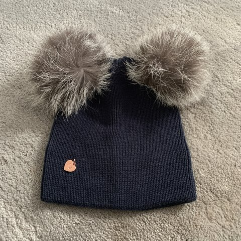 caa8990f249 DOUBLE POM POM HAT Brand - Amelia Jane London Super stylish - Depop