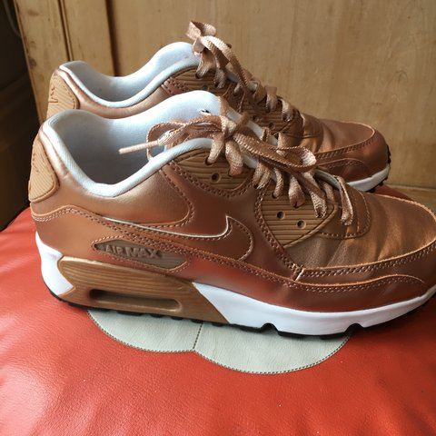 281e87523e2 Air Max 90 Rose Gold. Size 3.5. Tried on at home but never - Depop