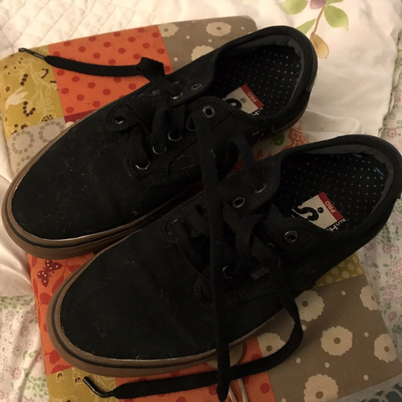 7fabfc4c8a Worn 4 x max . Black and brown gum Vans Shoes. In good are - Depop