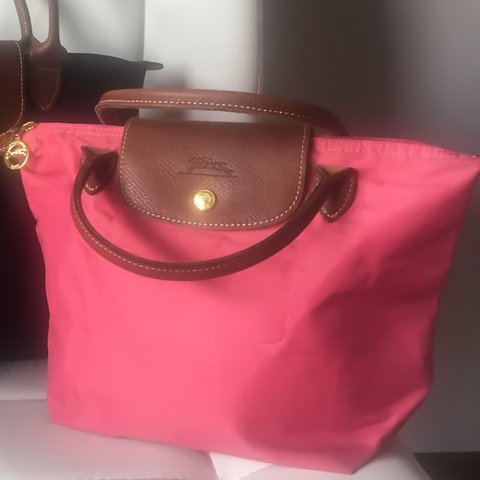 82fec742b3f9 100% authentic Longchamp le pliage bag small size short col - Depop