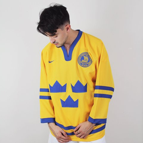 birchvintage. 2 years ago. United Kingdom. Vintage Nike Sweden Ice Hockey  Jersey ... 7dcb58906