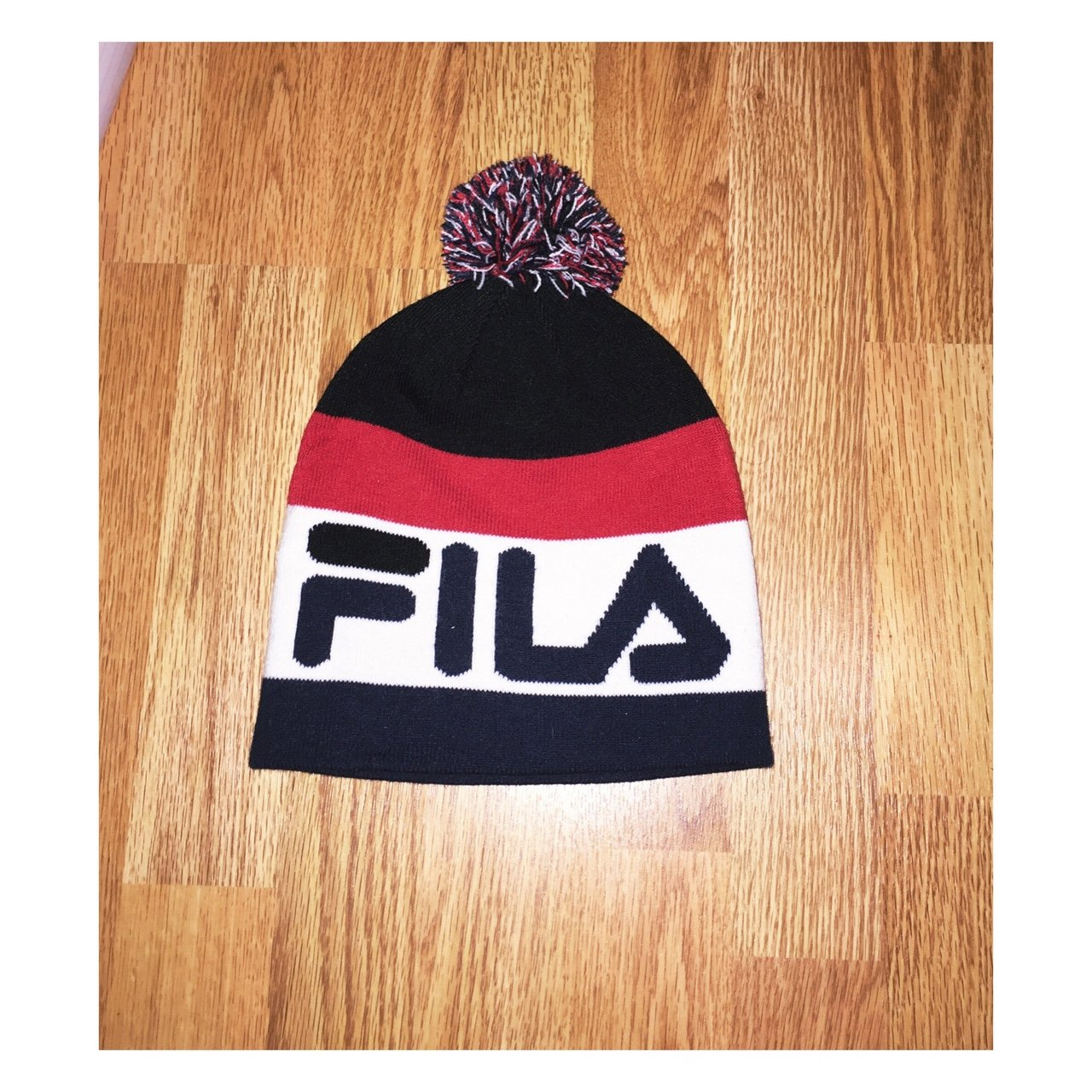 Brand new Fila beanie bobble knitted woolly hat ❄ ❄  fila - Depop 6dc4d70e93f