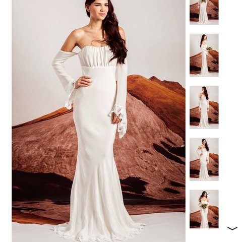 7e728ec3b8f Magnificent Stone Cold Fox bridal gown. Brand new with tags - Depop