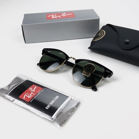 d025e1c759 Authentic Ray-Ban Clubmaster sunglasses 🕶 Black   Gold New - Depop