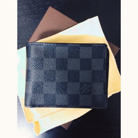 6b59eddb9393 AUTHENTIC Louis Vuitton Damier Graphite Multiple Wallet