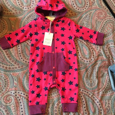 Boots Mini Club Brand New With Tags Pink Baby Grow Hooded Depop