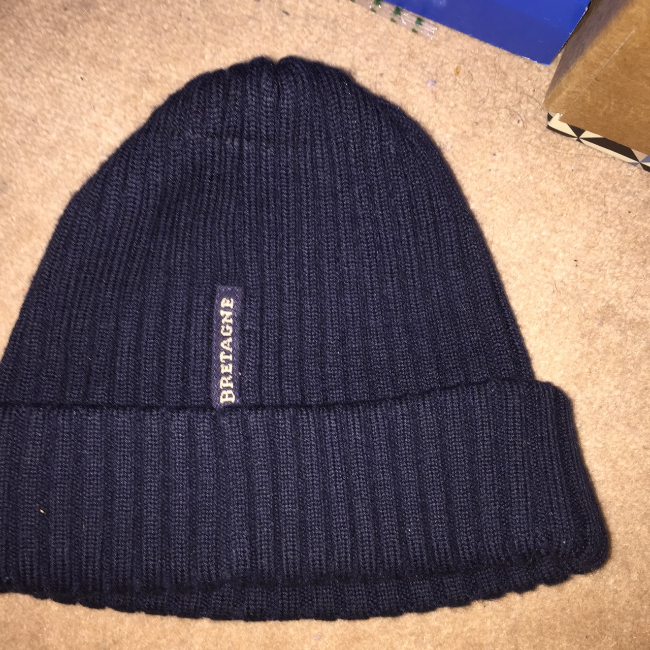 6d5be1172c2 Paul and shark navy blue beanie. 8 10 condition. No rips or - Depop