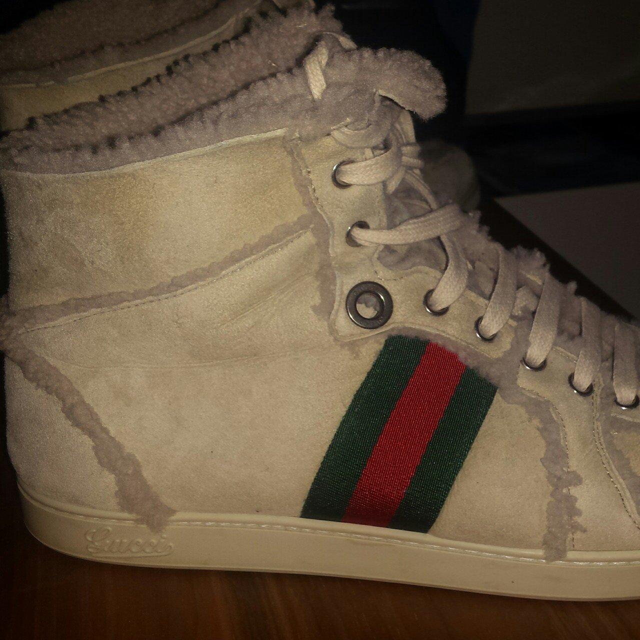 7f25a35dd93 Gucci Sneakers Size 43   UK 9 Condition 8.5 10 New Price in - Depop