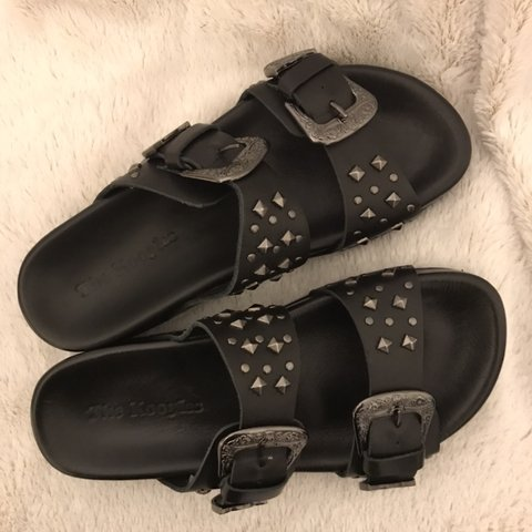 154be30af7e @jevvels. 6 months ago. Pasadena, United States. The Kooples Leather Sandals  with studs.