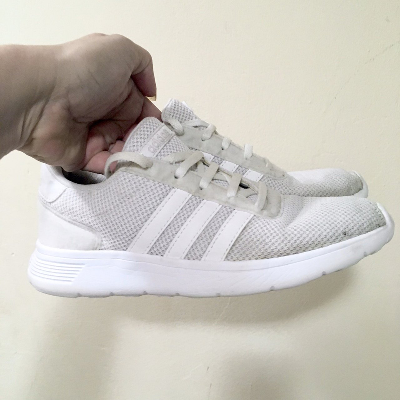 Adidas white running/gym trainers size