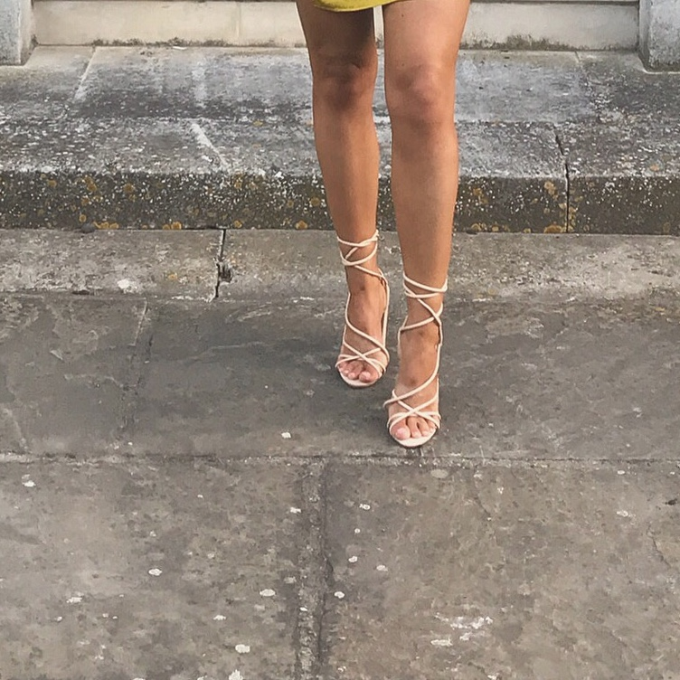 Missguided nude tie up strappy lace up