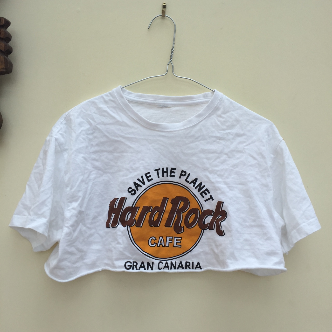 Hard Rock Cafe Cropped T Shirt Gran Canaria Would Depop