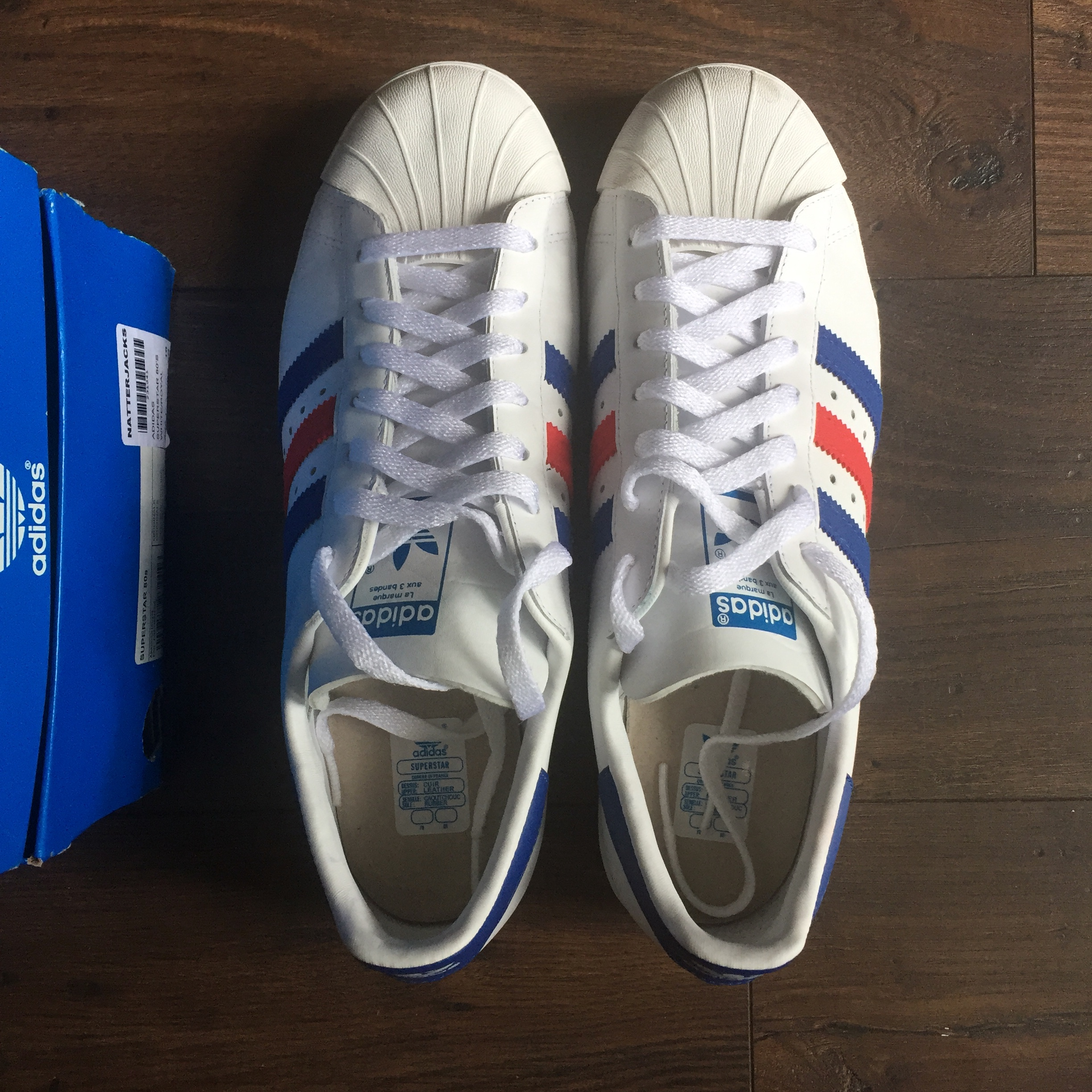reputable site 78276 36bb4 New Adidas Superstar 80s ( France colour ) - Uk10 - Depop