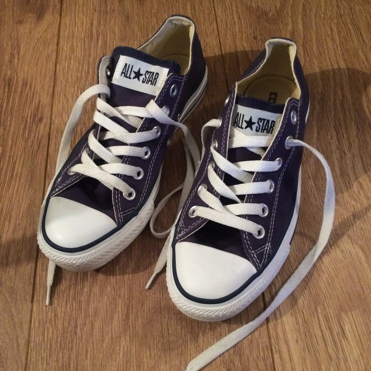 Converse all star navy pumps lace up trainers size 5. Worn - Depop 5bb100a13