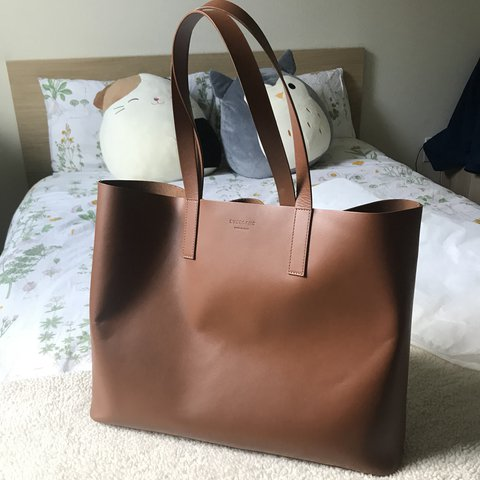 07886302d54d Everlane the day market tote bag in Cognac. Like new Comes - Depop