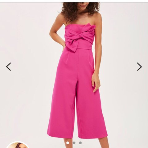 60b0f35c39e Topshop Pink Culotte jumpsuit in pink. Size 10. Worn on two - Depop
