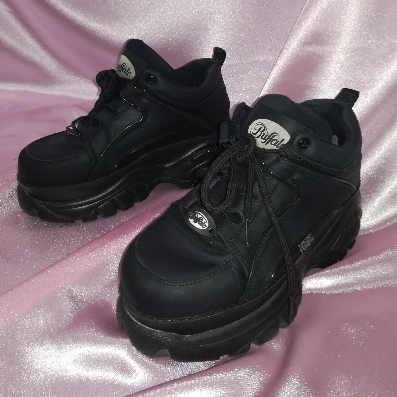 be7dc190243 Black buffalo boots Worn 3 times and I'm so sad to... - Depop