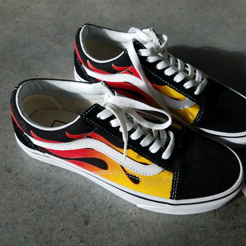 limited edition flame vans old skool c776a91f55d0