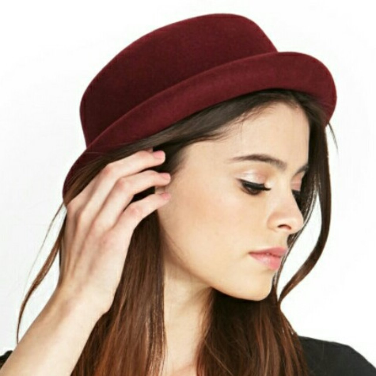 Burgundy bowler hat from forever 21. One size 1d0bdc01ddc