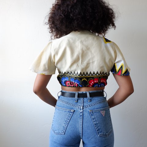 4da2341e2d64f Wrap Crop Top This is a super unique beaut in the most and - Depop