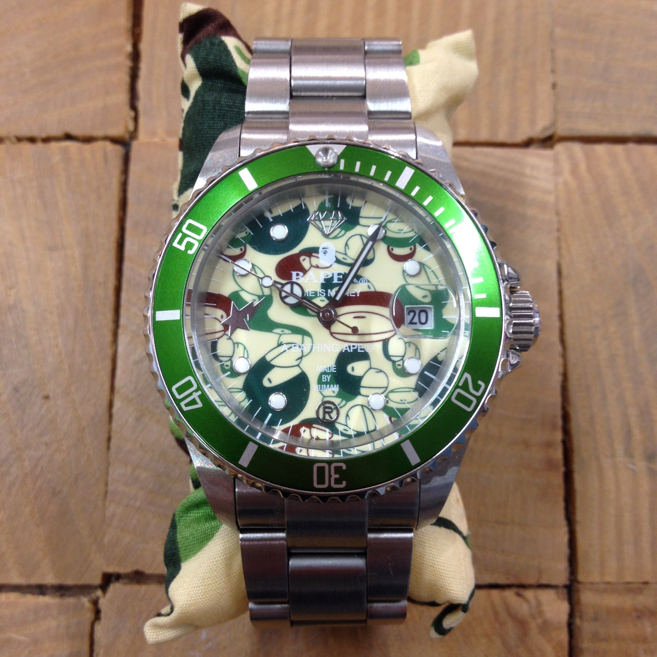 Extremely Rare Bathing Ape Bapex Submariner Watch Depop