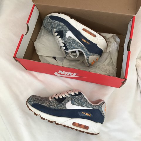 7270ae523d ... czech nike x liberty london air max 90 rare limited edition ss14 a depop  a9cc0 f2d06