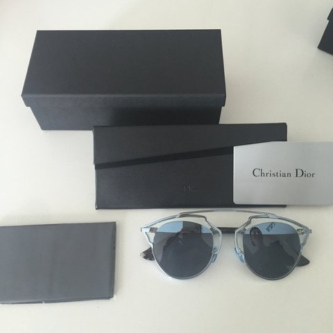 8cffcebacb NEW DIOR SUNGLASSES FROM THIS SEASON ( Black triangle box   - Depop