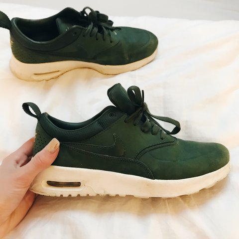 146487903a60 Khaki green Nike Air Max Thea women s trainers. Bought off a - Depop