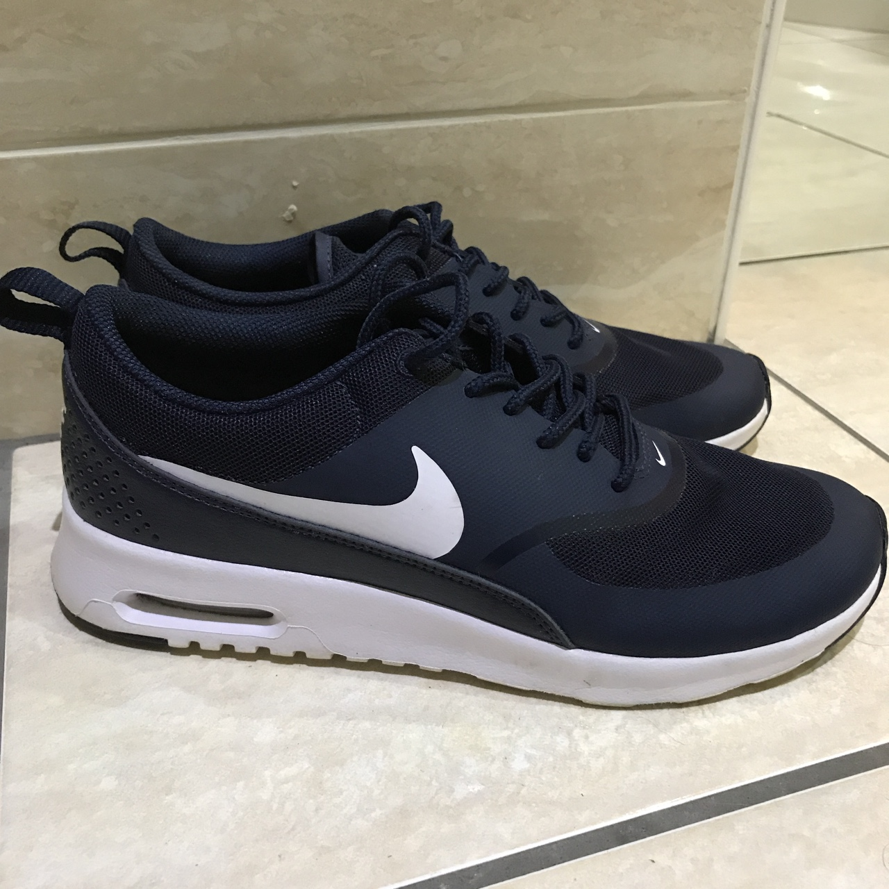 Nike air max Thea Navy size 4.5. Will fit a 4 or Depop
