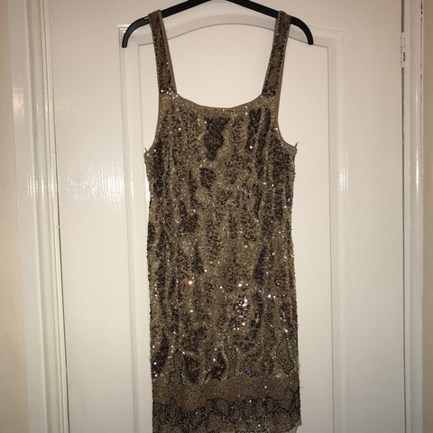 1a962128d7 Zara sequin dress Amazing quality and detail Knee length for - Depop