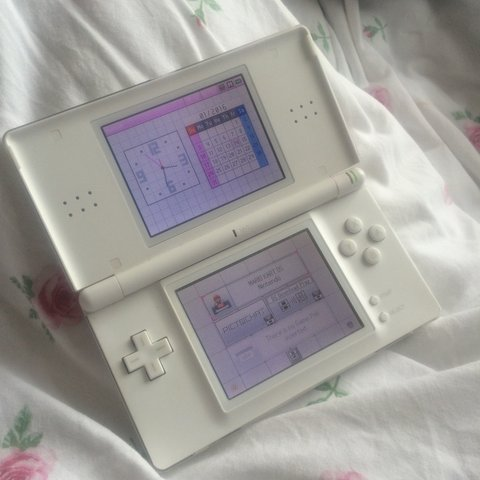 White Nintendo Ds Lite Good Condition Two Small Scratches Depop