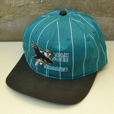 77ea6463 @vinnys. last year. London, United Kingdom. Vintage 90s San Jose Sharks NHL  snapback cap by Starter.
