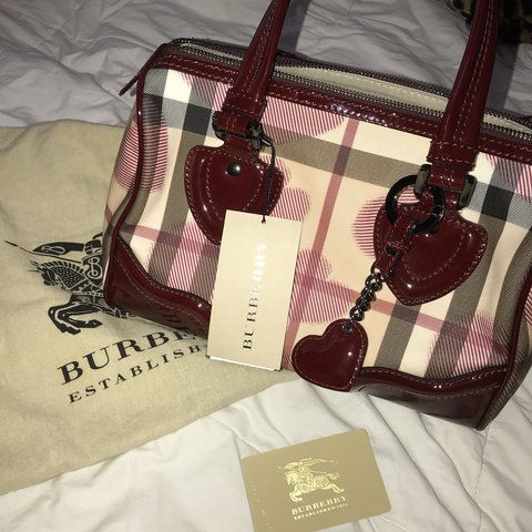 f6084949b7 Burberry check hearts Boston bag brand new with tags and bag - Depop