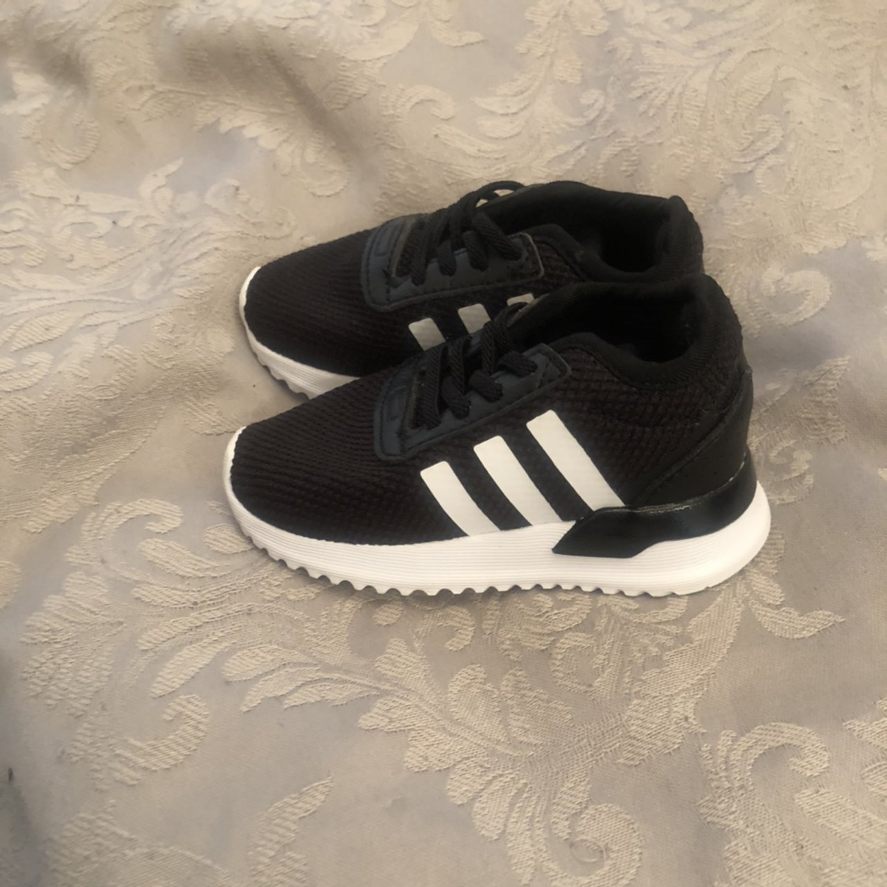 Baby size 5 adidas black trainers never