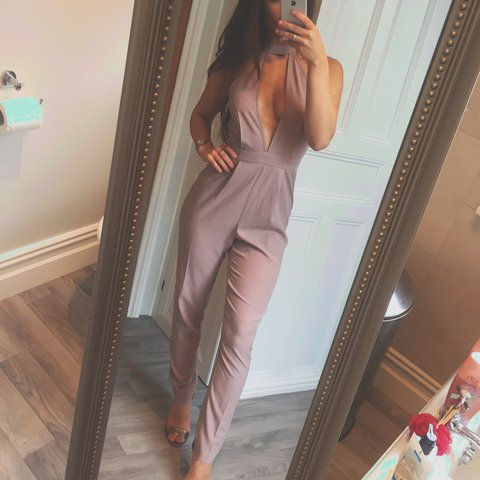 6197a6aa43aa Missguided cut out plunge choker jumpsuit - Depop