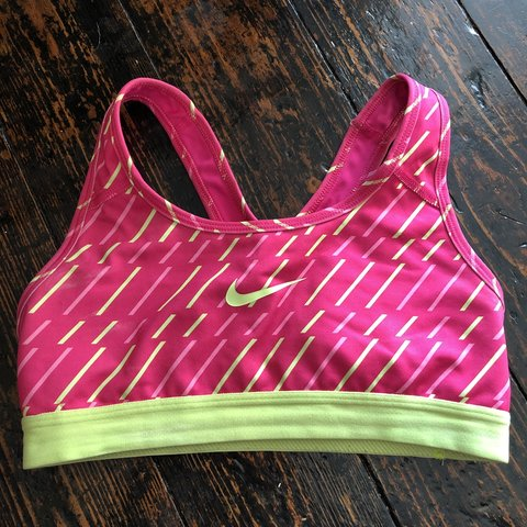 1568192840 XS NIKE SPORTS BRA LOVELY BRIGHT PINK TIGHT SPORTS BRA   top - Depop