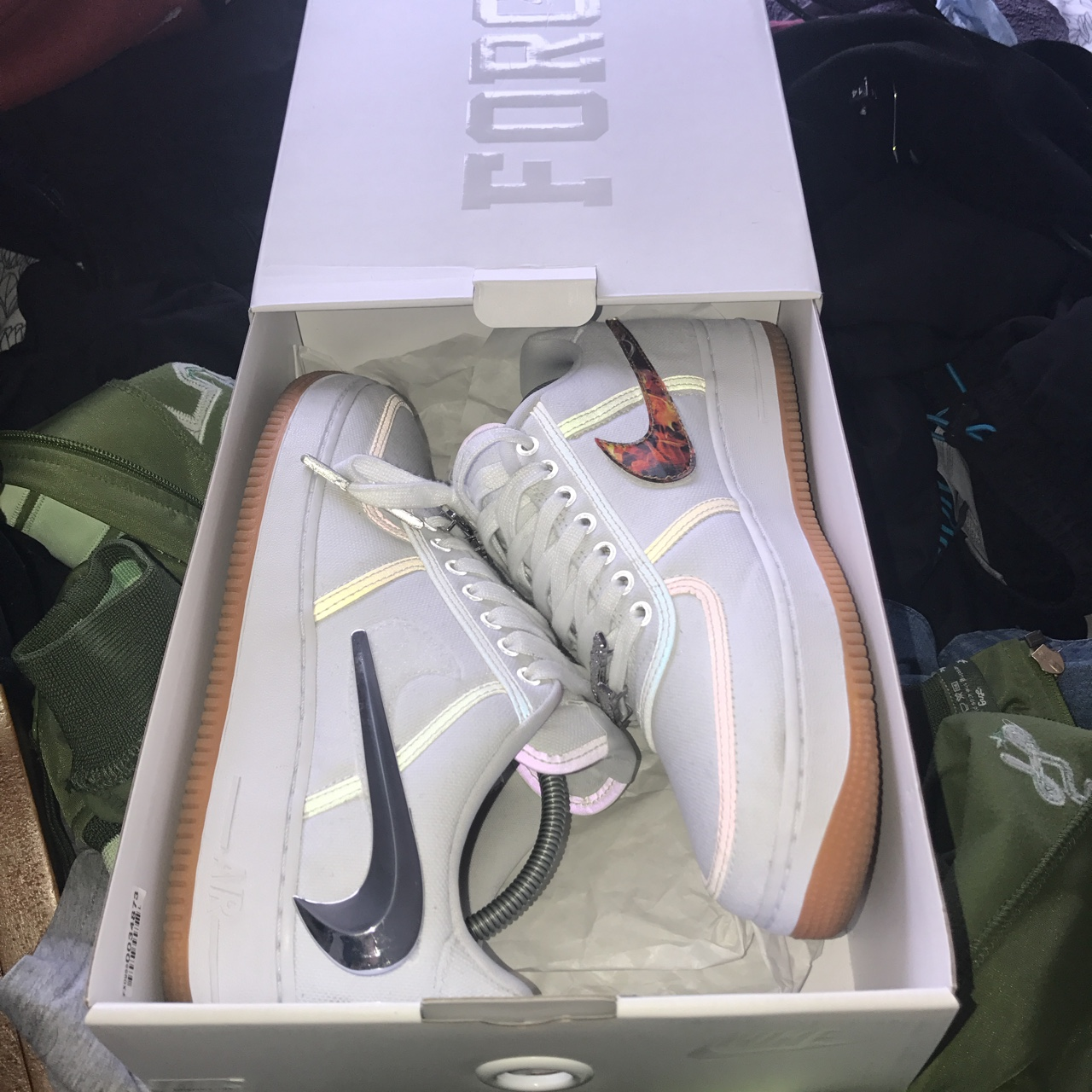 TRAVIS SCOTT X NIKE AIR FORCE 1 CACTUS JACK Depop