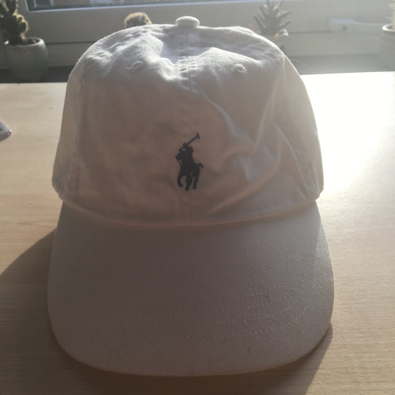 7154688fb5d Polo Ralph Lauren Cap in White Tags  hat - Depop