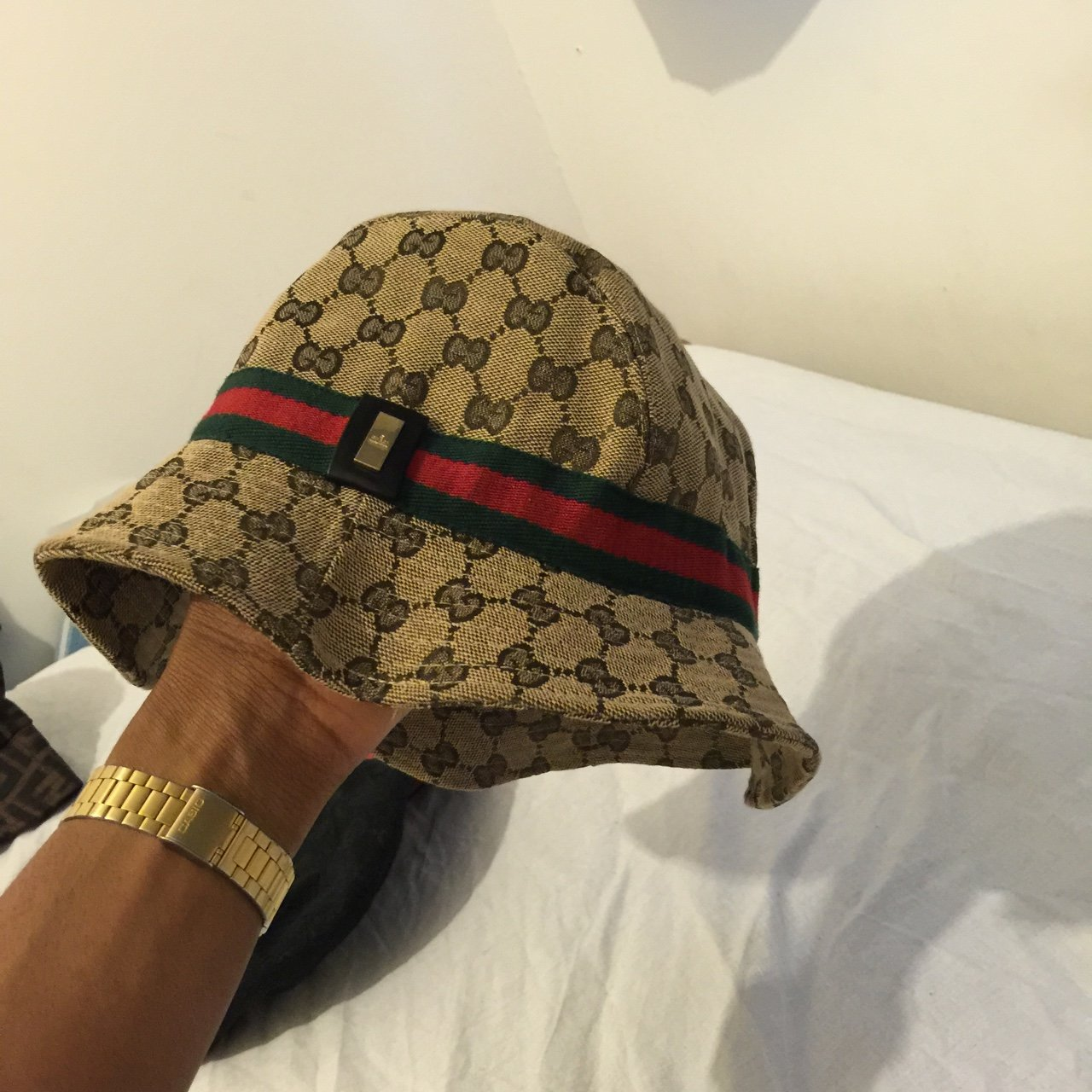 f0f3fddd9c9 Vintage Gucci bucket hat. Excellent condition. Authentic. - Depop