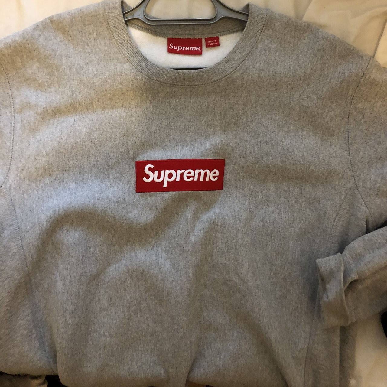 e691aa6e2c8e MESSAGE BEFORE BUYING. Supreme box logo crewneck from FW15