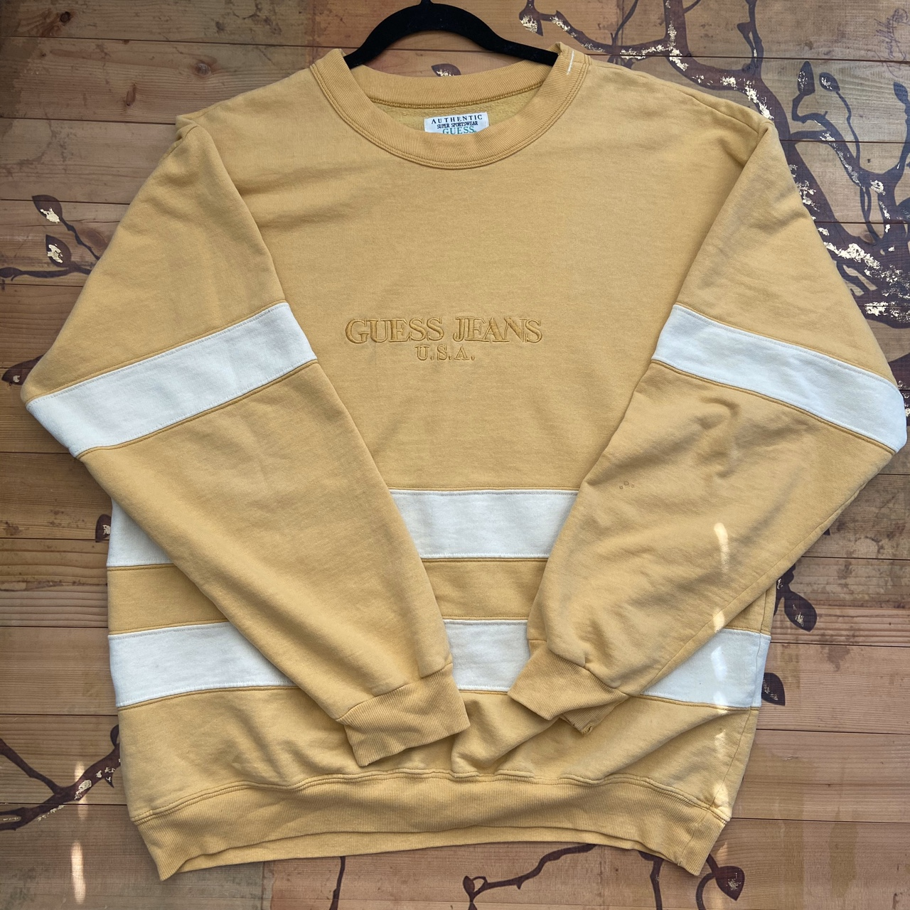 Product Image 1 - Vintage guess sweatshirt Authentic Yellow and