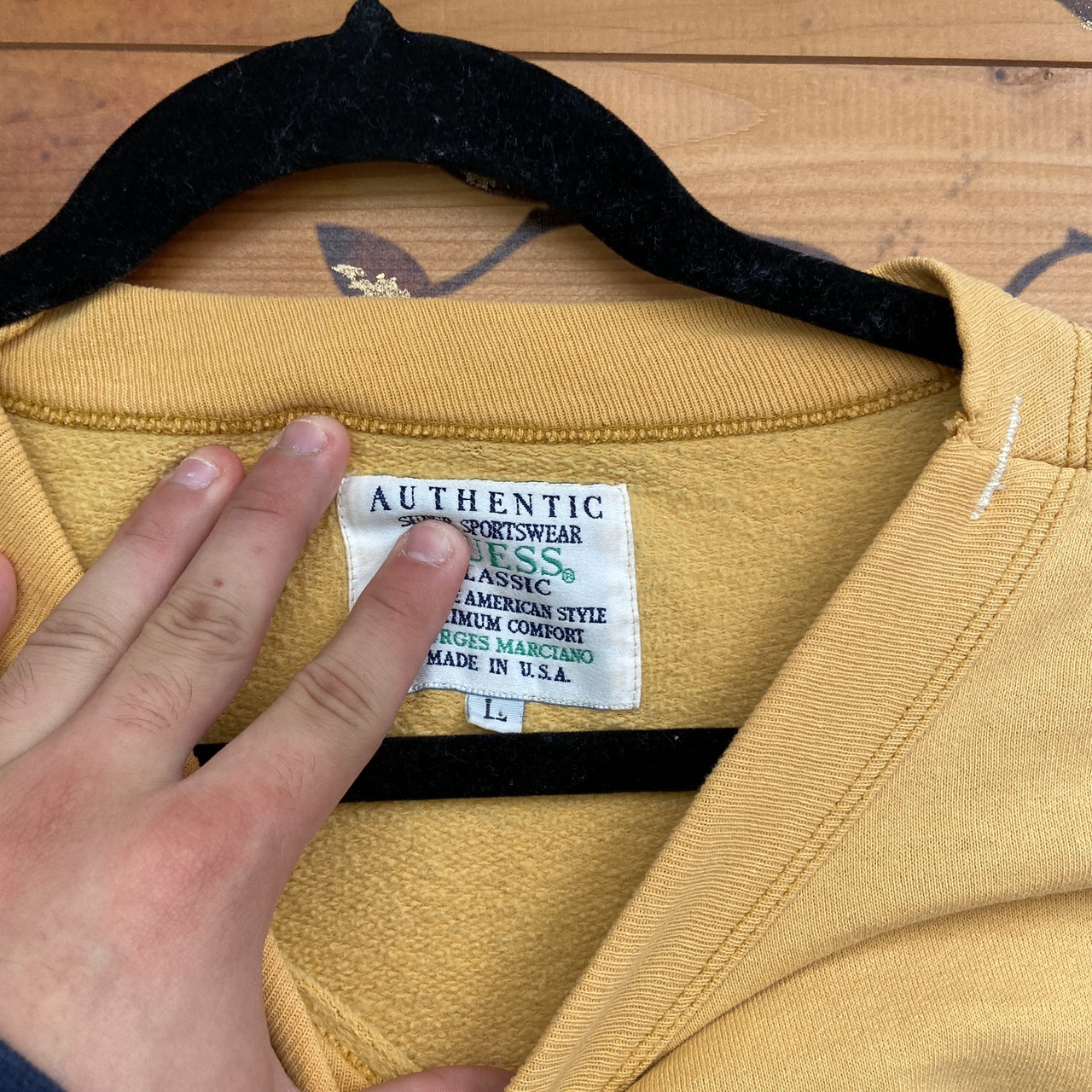 Product Image 3 - Vintage guess sweatshirt Authentic Yellow and