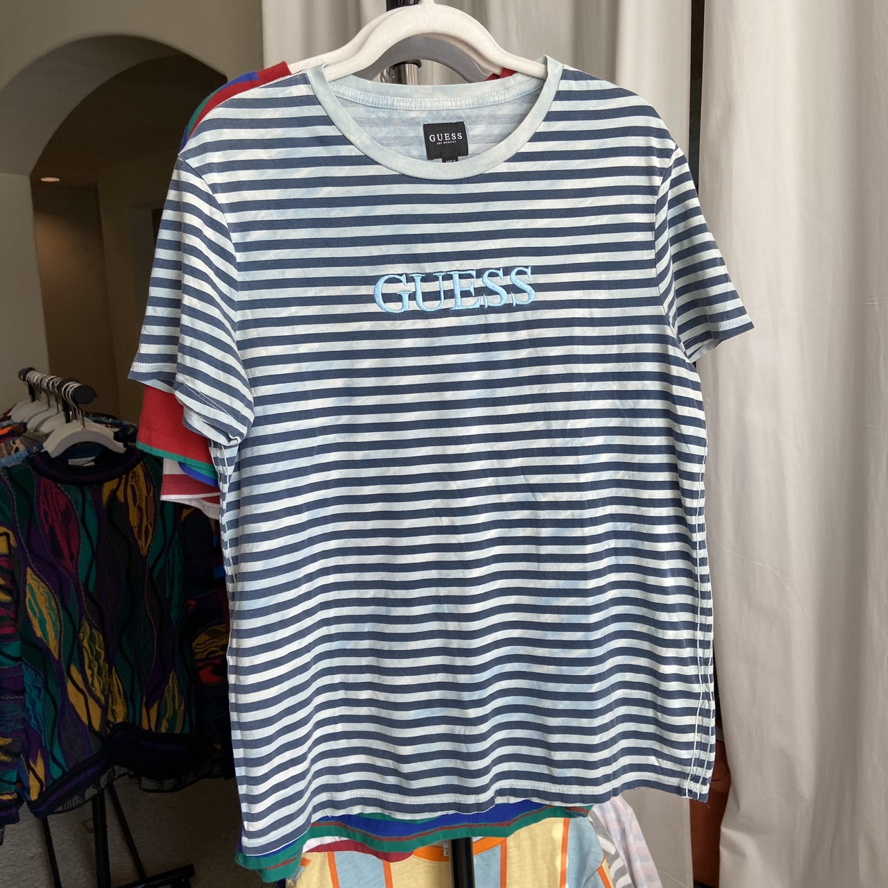 Product Image 1 - Vintage guess tshirt Striped design with