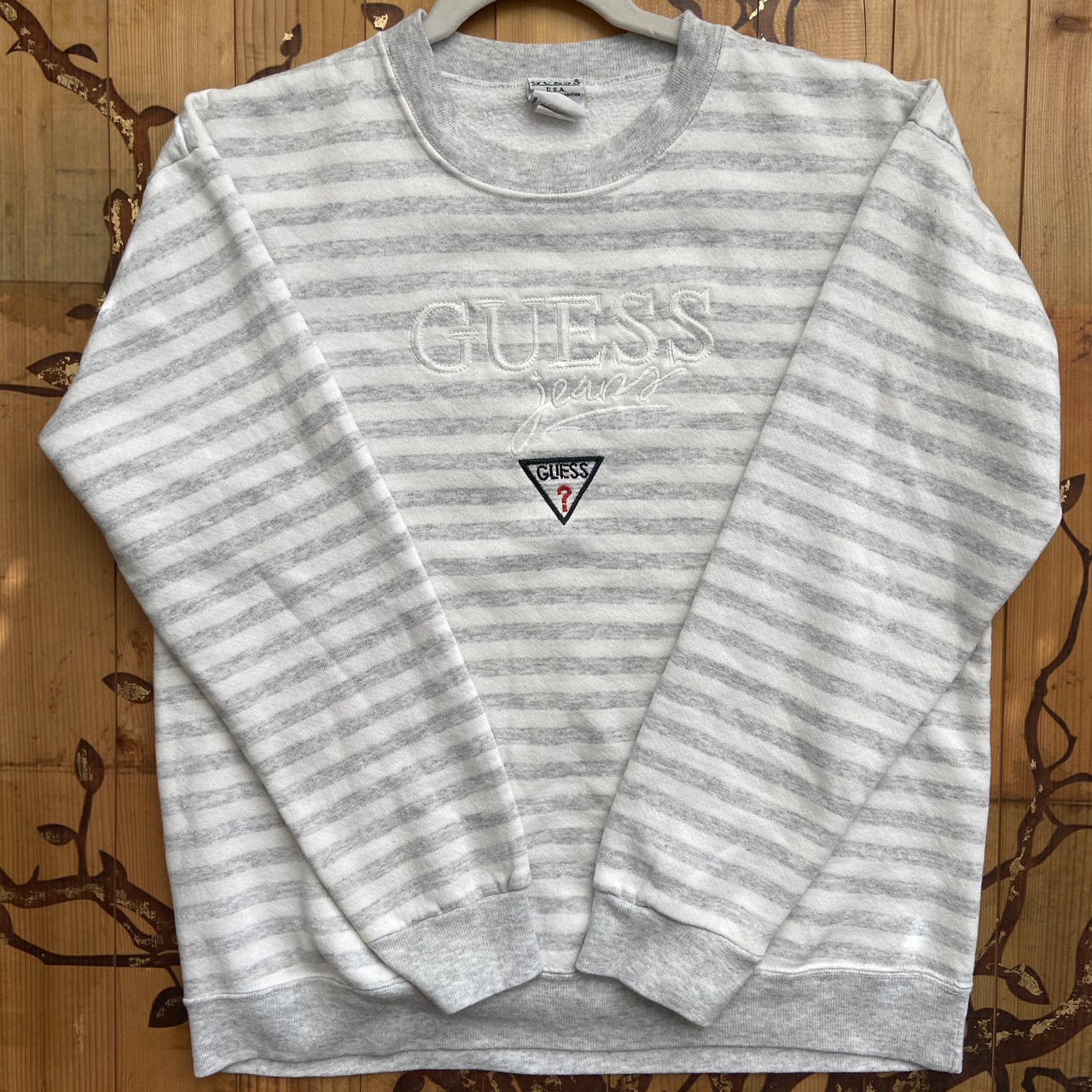 Product Image 1 - Vintage guess sweatshirt White striped design