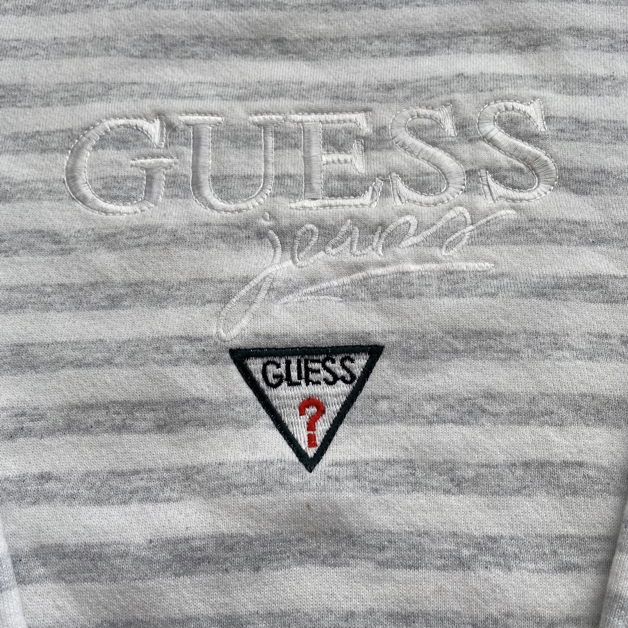 Product Image 2 - Vintage guess sweatshirt White striped design