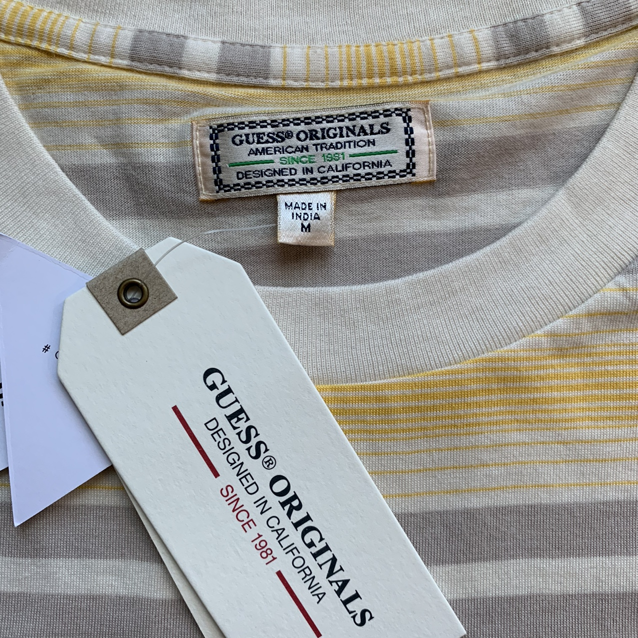Product Image 3 - Tan and Grey stripped Guess