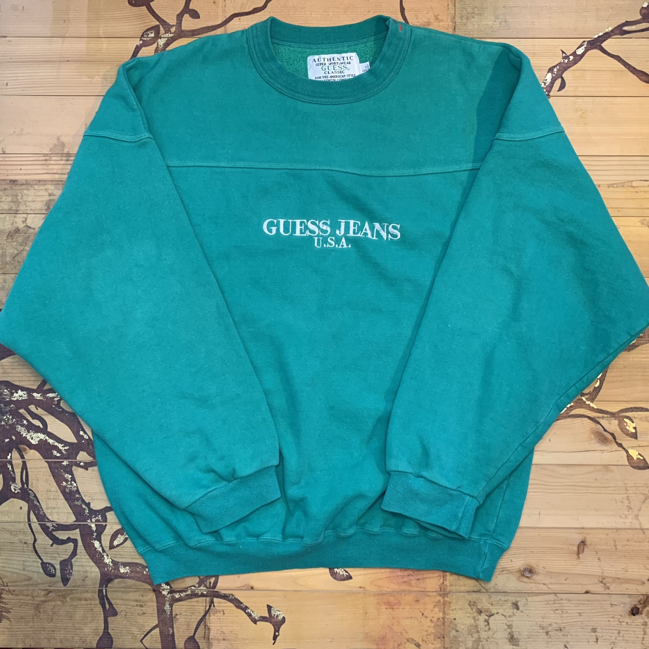 Product Image 1 - Green Guess Sweatshirt the color is