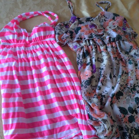 b60249683fe Two cute summer dresses! The pink is a S from Target
