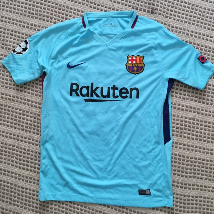 new product 9dae5 64127 authentic nike FC barcelona messi soccer jersey in... - Depop
